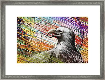 American Eagle Framed Print by Bedros Awak