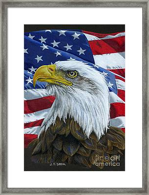 American Eagle Framed Print by Sarah Batalka