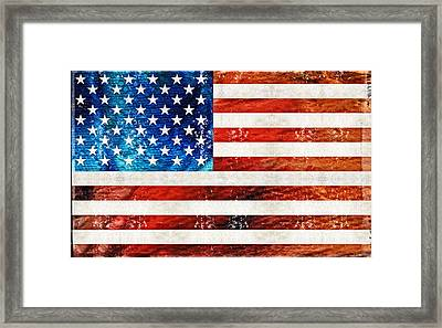 American Flag Art - Old Glory - By Sharon Cummings Framed Print by Sharon Cummings