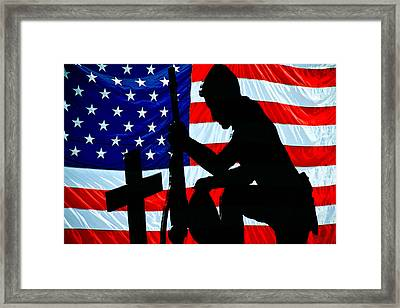 A Time To Remember American Flag At Rest Framed Print by Bob Orsillo