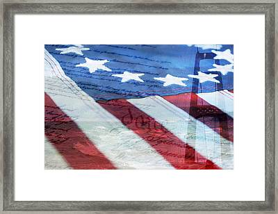 American Flag Framed Print by Christina Rollo