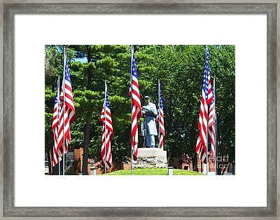 American Flag - Civil War Memorial -  Luther Fine Art Framed Print by Luther   Fine Art