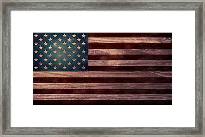 American Flag I Framed Print by April Moen