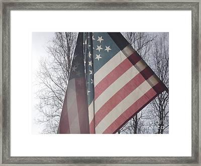 American Flag Framed Print by Jennifer Kimberly