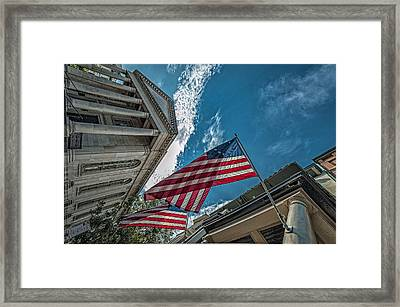 American Flags Framed Print by Oleg Koryagin