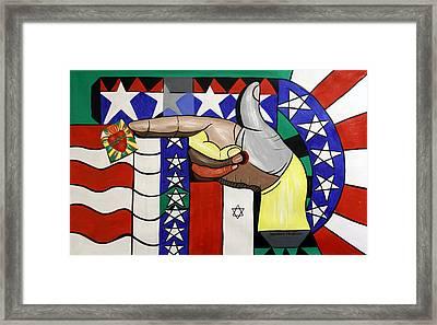 American Hand Gun Framed Print by Anthony Falbo