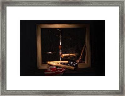 American Ideals Still Life Framed Print by Tom Mc Nemar