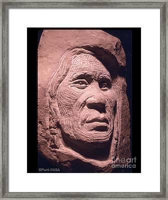 American-indian-portrait-1 Framed Print by Gordon Punt