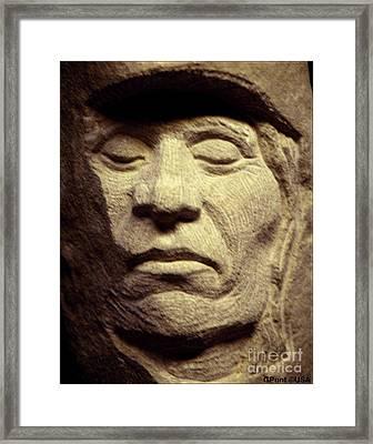 American-indian-portrait 2 Framed Print by Gordon Punt