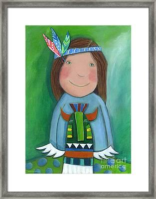 American Indian Framed Print by Sonja Mengkowski