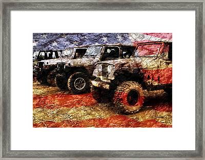 American Jeeps Framed Print by Luke Moore