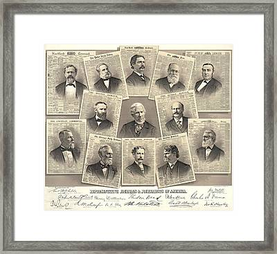 American Journalists 1882 Framed Print by Padre Art