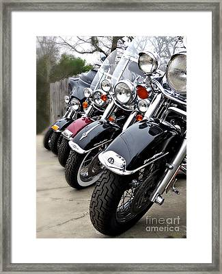 American Made Harley Davidson Framed Print by Ella Kaye Dickey