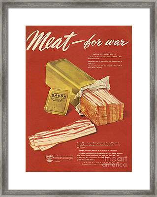 American Meat Institute 1950s Usa Bacon Framed Print by The Advertising Archives