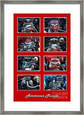 American Muscle Red Poster Framed Print by Olivier Le Queinec
