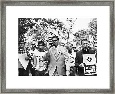 American Nazi Party March Framed Print by Underwood Archives