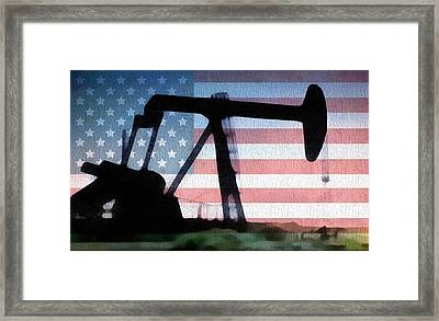 American Oil Rig Framed Print by Dan Sproul