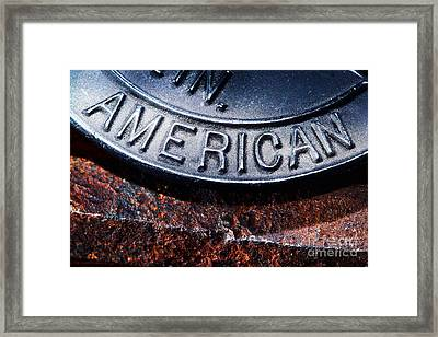 American Framed Print by Olivier Le Queinec