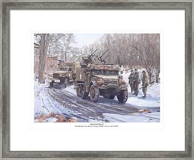 American Patrol Framed Print by Mark Karvon