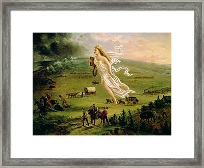 American Progress Framed Print by John Gast