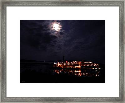 American Queen Moon Framed Print by Wild Thing