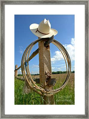 American Ranch Framed Print by Olivier Le Queinec