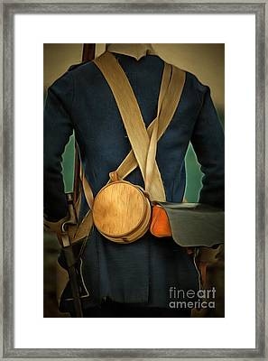 American Revolutionary Soldier Framed Print by Edward Fielding