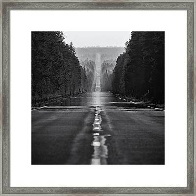 American Road Trip Framed Print by Alexis Birkill