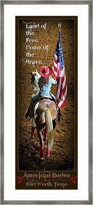 American Rodeo - Fort Worth Framed Print by Stephen Stookey