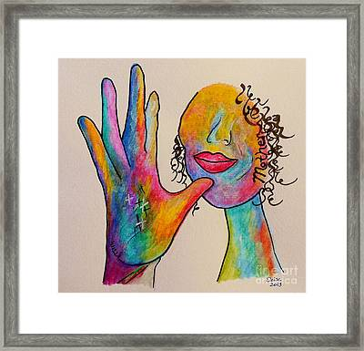 American Sign Language . . .  Mother Framed Print by Eloise Schneider
