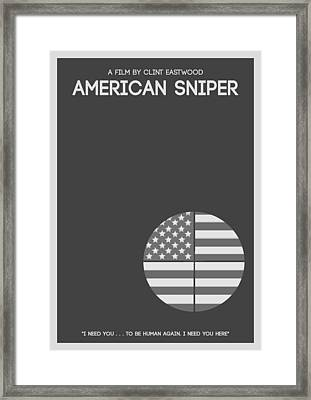 American Sniper Minimalist Movie Poster Framed Print by Celestial Images