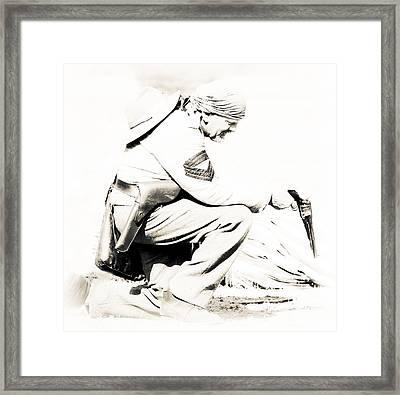 American Soldier Framed Print by Athena Mckinzie