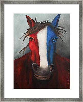 American Spirit Framed Print by Leah Saulnier The Painting Maniac