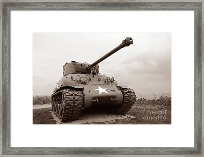 American Tank Framed Print by Olivier Le Queinec