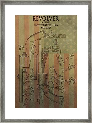 American Vintage Revolver Framed Print by Dan Sproul
