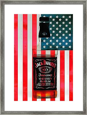 American Whiskey Jack Daniels Framed Print by Dan Sproul