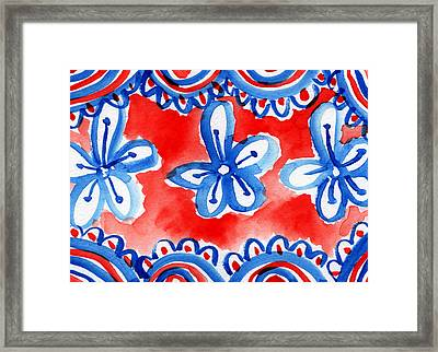 Americana Celebration 2 Framed Print by Linda Woods