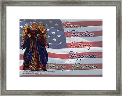 Americana Military Christmas 1 Framed Print by Robyn Stacey