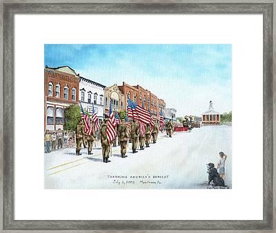 America's Brave Framed Print by Carol Angela Brown