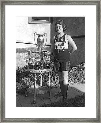 America's Champion Athlete. Framed Print by Underwood Archives