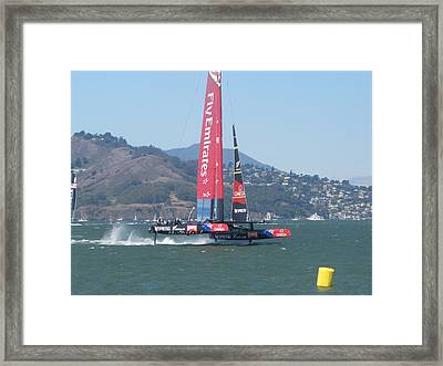 Americas Cup Emerates 1 Framed Print by James Robertson