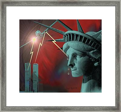 Americas Deepest  Wound  - 100 Framed Print by Irmgard Schoendorf Welch