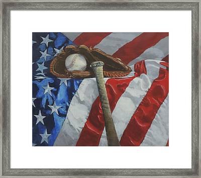 America's Game Framed Print by Bill Tomsa