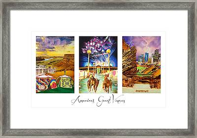 America's Great Venues Framed Print by Joshua Morton