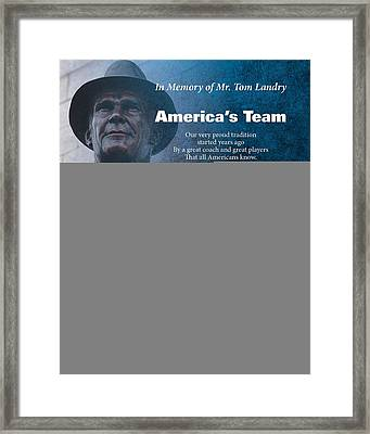 America's Team Poetry Art Framed Print by Stanley Mathis