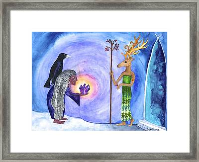 Amethyst Framed Print by Cat Athena Louise