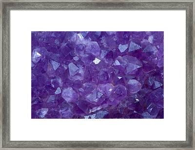 Amethyst Crystal Stone Detail Framed Print by Pablo Romero