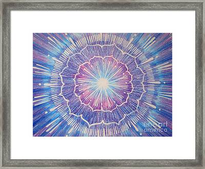 Amethyst Energy Framed Print by Shasta Eone