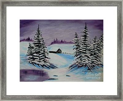 Amethyst Evening After Ross Framed Print by Barbara Griffin
