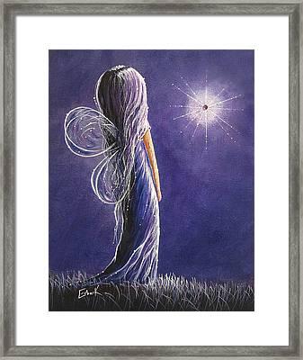 Amethyst Fairy By Shawna Erback Framed Print by Shawna Erback
